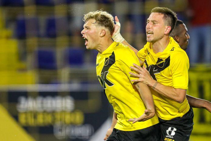 Sydney van Hooijdonk was de gevierde man voor NAC tegen Den Bosch.