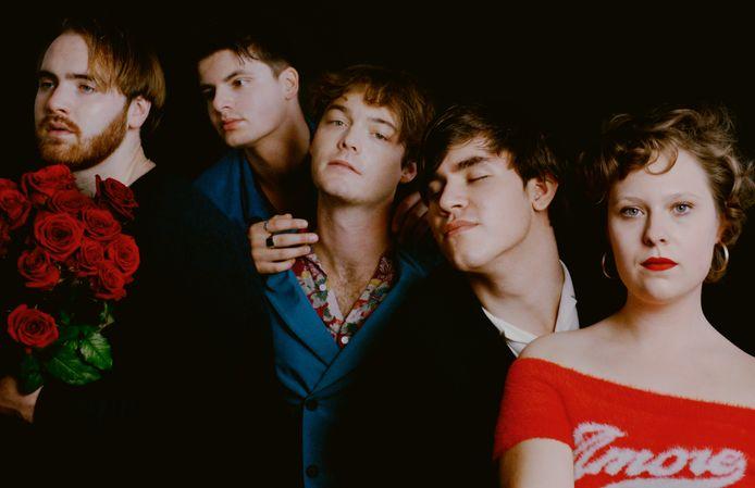 De band Indigo Pastel, met Max, Sander, Tim, Pim en Mo (vlnr).