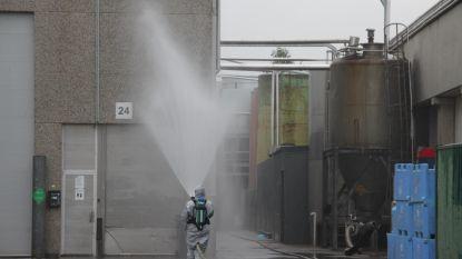 Varkensslachthuis decor zonale oefening na ammoniaklek