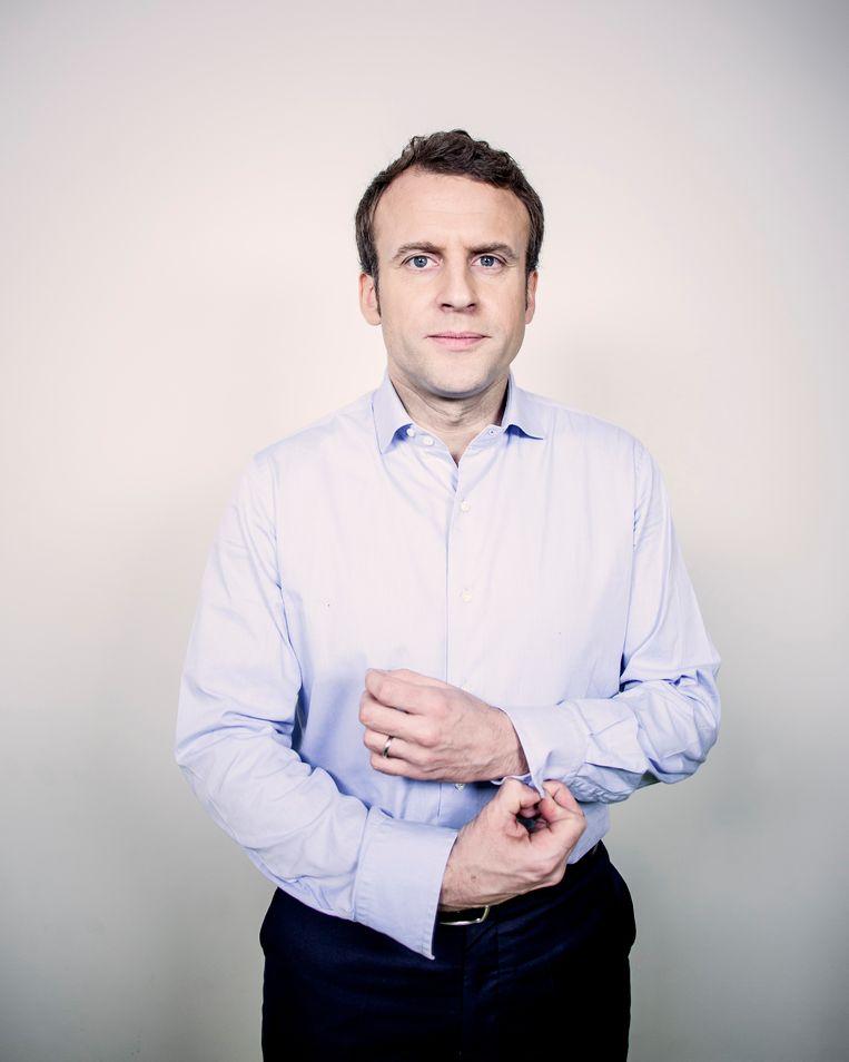 Macron is briljant en welbespraakt, maar komt arrogant over. Beeld Stephane Grangier / Getty