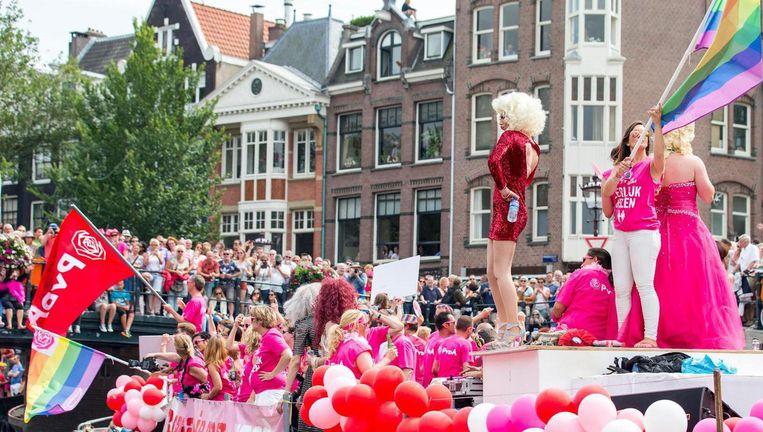 De boottocht van Pride Amsterdam Beeld ANP