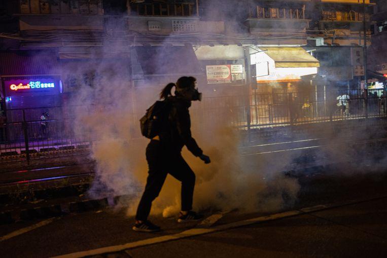Demonstranten gaan in Hongkong al vijf maanden dagelijks de straat op. Beeld EPA