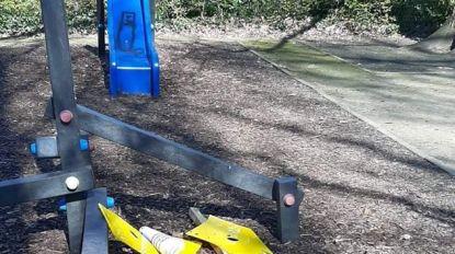 Opnieuw waarschuwingsborden aan speelpleintjes vernield