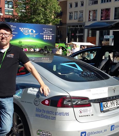 Spanjaard met een roeping doet Nijmegen aan in elektrische rally