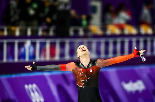 28ac437838a Ted-Jan Bloemen in de Gangneung Oval tijdens de 10000 meter op de  Olympische Winterspelen