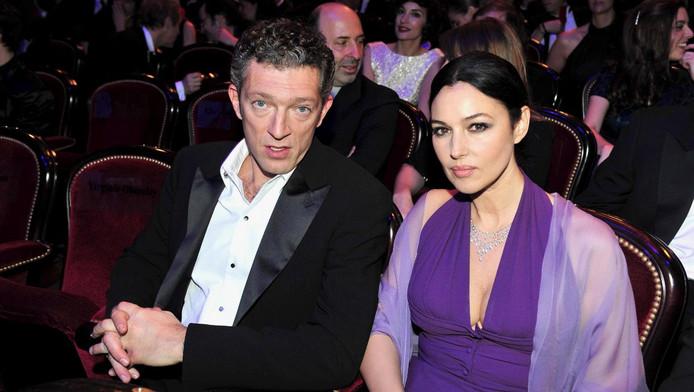 Vincent Cassel et Monica Bellucci en février 2009.