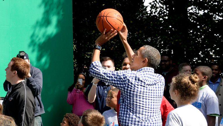 Barack Obama is een bekend sportliefhebber Beeld anp