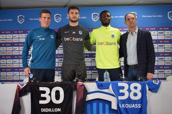 Vlnr: Hannes Wolf, Thomas Didillon, Eboue Kouassi en Dimitri de Conde.