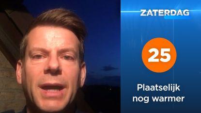 """Weerman David: """"Zaterdag temperaturen boven 25 graden"""""""