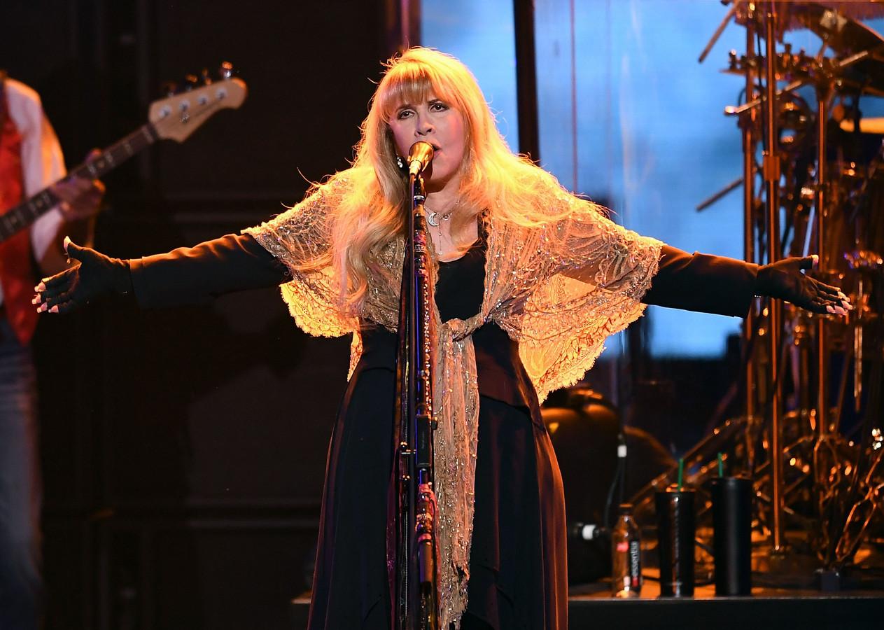 Stevie Nicks tijdens een optreden in New York, in januari.