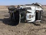 Rallyauto slaat 9 keer over de kop