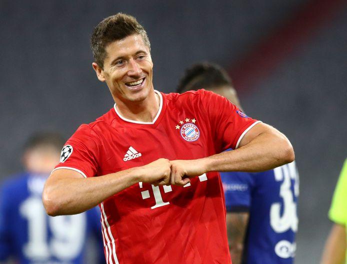 Robert Lewandowski kon ook tegen Chelsea weer juichen.