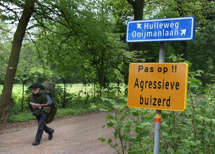 Het werkterrein van de agressieve buizerd in Doetinchem, nabij natuurgebied de Koekendaal.