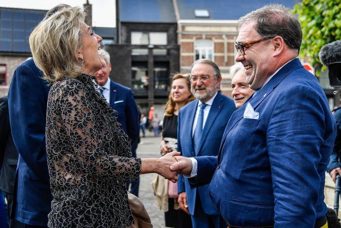 Burgemeester Christoph D'Haese kon het goed vinden met prinses Astrid.