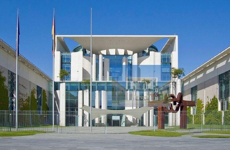 De Bondskanselarij in Berlijn. Beeld Wikipedia