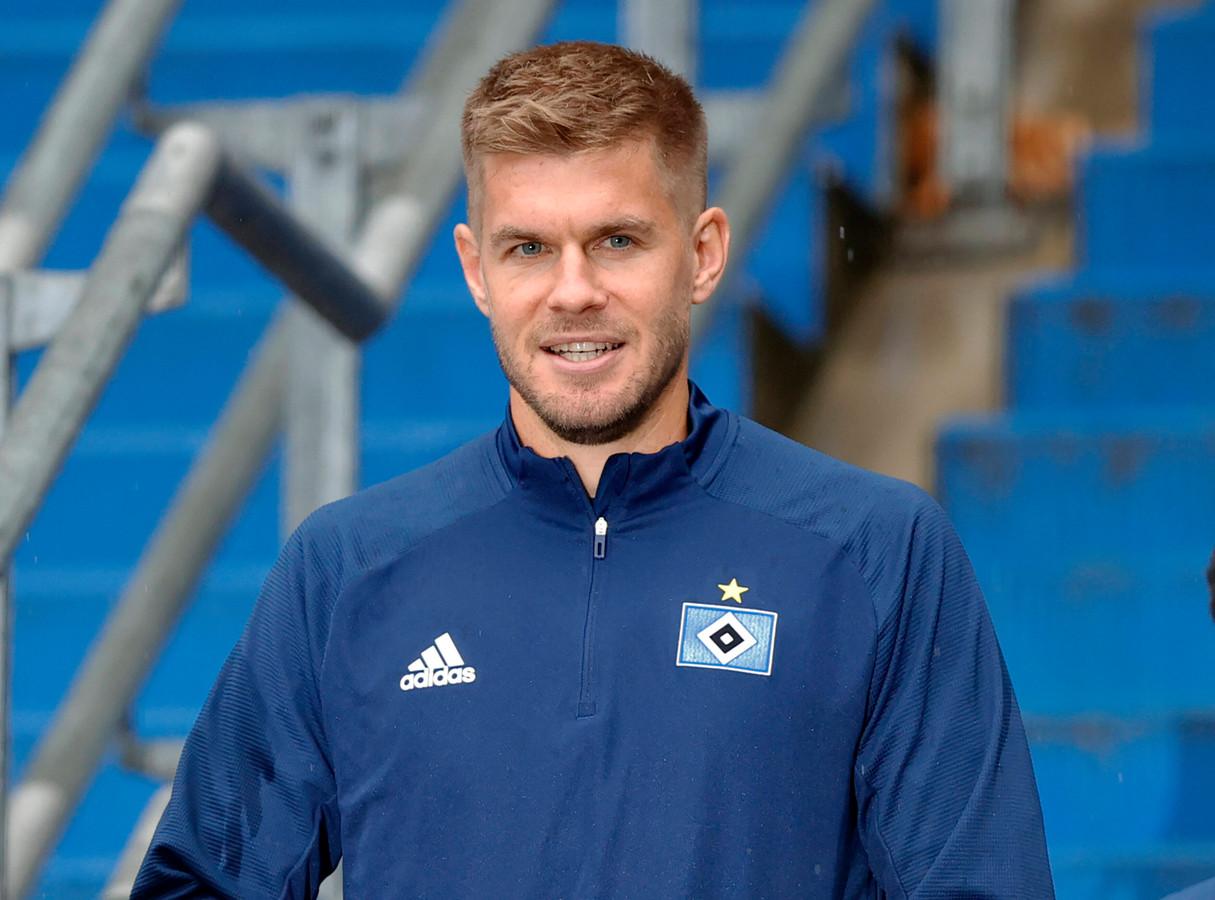 Simon Terodde maakte beide goals voor HSV.