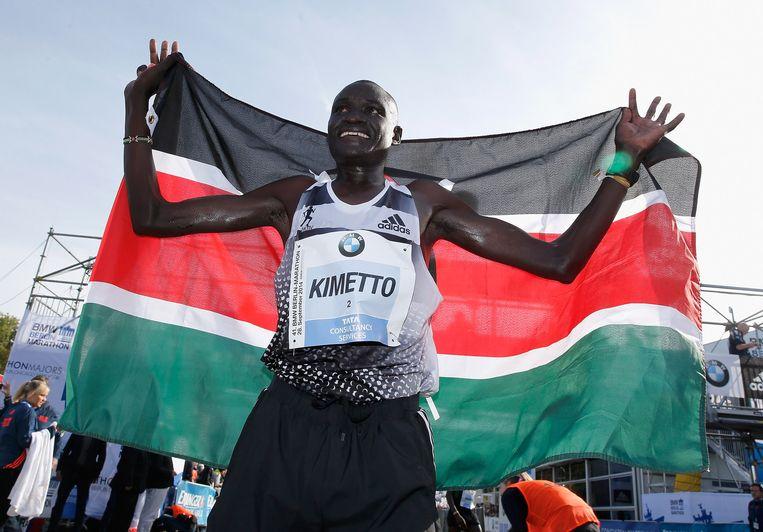 Dennis Kimetto, de nieuwe wereldrecordhouder op de marathon. Beeld getty