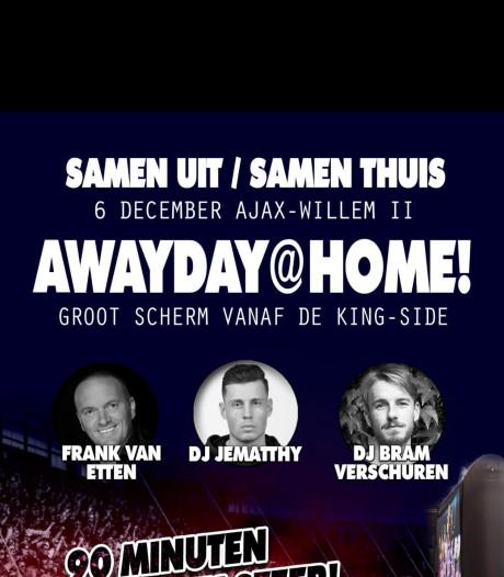 Willem II-fans maken uit protest thuiswedstrijd van Ajax-uit