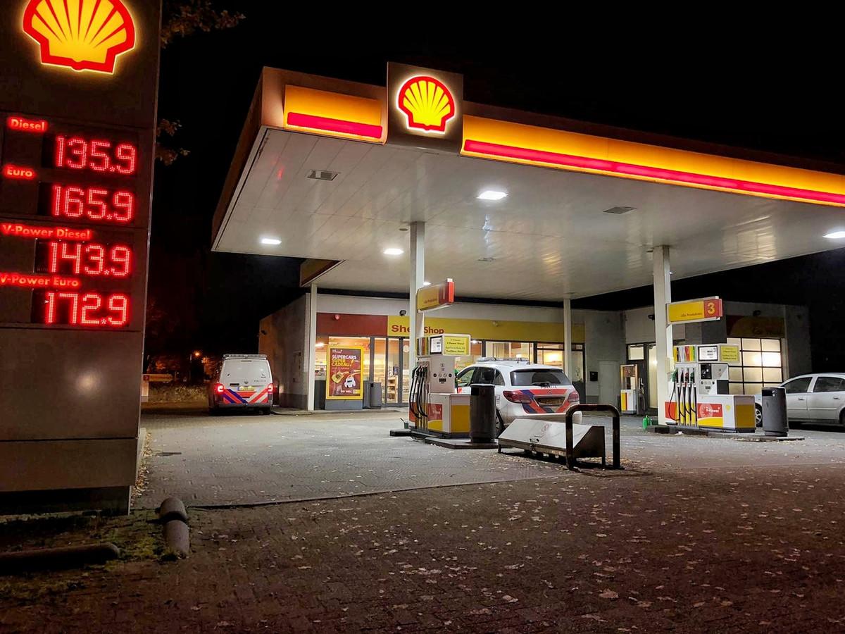 Het tankstation dat is overvallen.