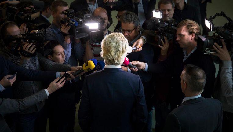 Geert Wilders, heer en meester op het populistische speelveld, reageert op de strafeis in de 'minder Marokkanen-zaak Beeld ANP