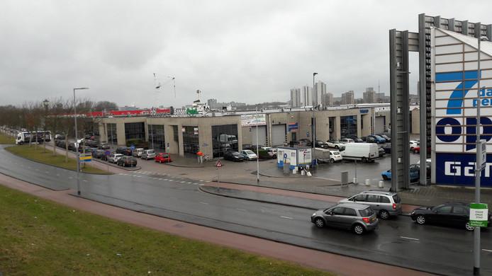 Het bedrijventerrein aan de Korte Stadionweg waar het nieuwe stadion moet verrijzen.
