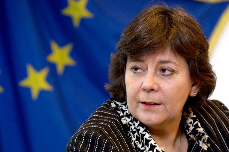Minister Rita Verdonk vóór haar makeover (in 2006)... Beeld null