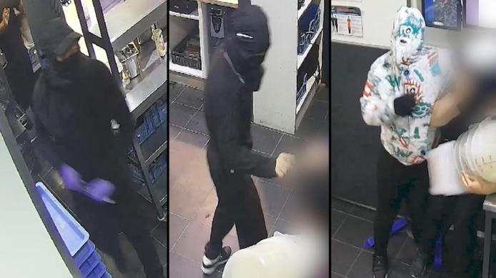 De drie verdachten van de overval in de Domino's in Voorburg.