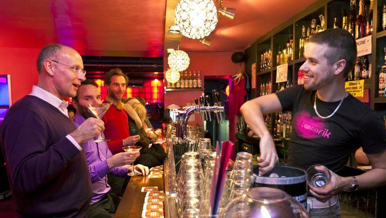 Bar Prik in de Spuistraat is uitgeroepen tot populairste gaycafé in de Homohorecaverkiezing 2014. Beeld Marc Driessen (www.marcdriessen.com)