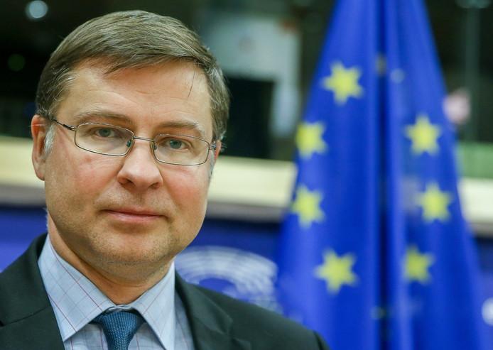 Vice-Commissievoorzitter Valdis Dombrovskis.