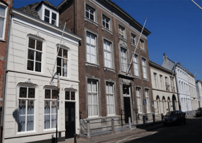 Sociëteit Amicitia de Zwarte Arend aan de Peperstraat in Den Bosch.