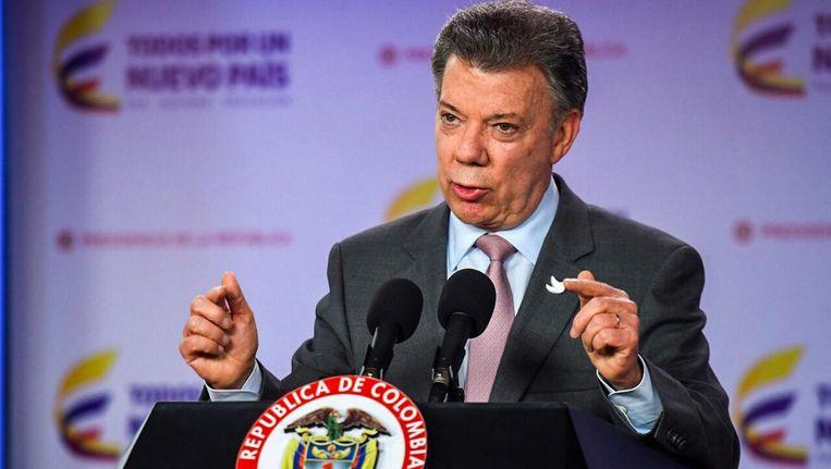 President Santos. Beeld AFP