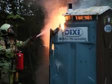 Mobiel toilet in brand gestoken in Máximapark