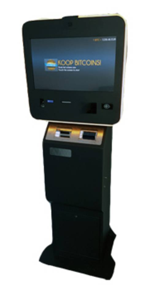 Het bedrijf bitcoins4me levert automaten waar mensen de digitale munt kunnen kopen en verkopen