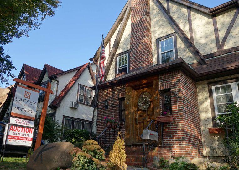 Het huis in Queens waar Trump de eerste vier jaar van zijn leven doorbracht. Archieffoto.