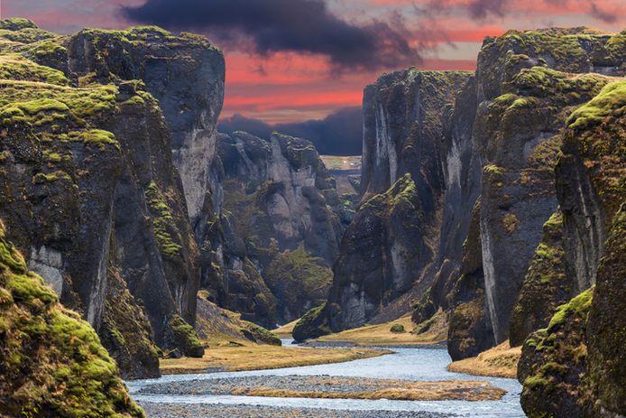 Fjadrargljufur canyon en Islande