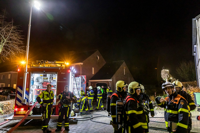 De brand in Den Hout.