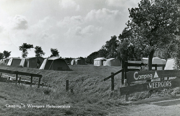 Het begin van camping 't Weergors in het midden van de jaren 60.