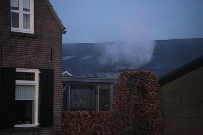 Grote brand in schuur in Schaijk.