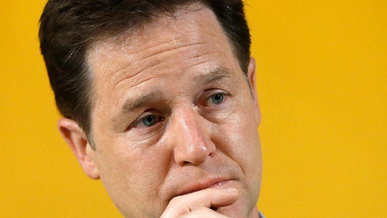 Nick Clegg, de voormalige leider van de Liberaal-democraten Beeld ap