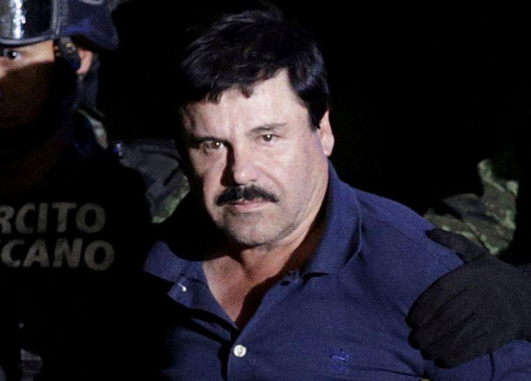 El Chapo bij zijn arrestatie in 2016.