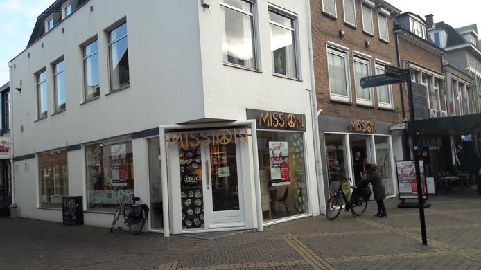 De winkel van Mission in de Hamburgerstraat in Doetinchem.