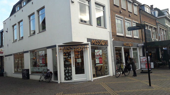 De winkel van Mission in de Hamburgerstraat in Doetinchem.