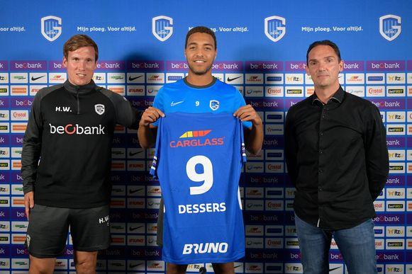 Hannes Wolf, Cyriel Dessers en Dimitri De Condé.
