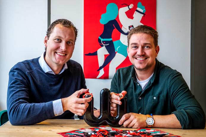 Paul Wiertz (36) en Michiel Huisman (37) van Wingman Condoms.