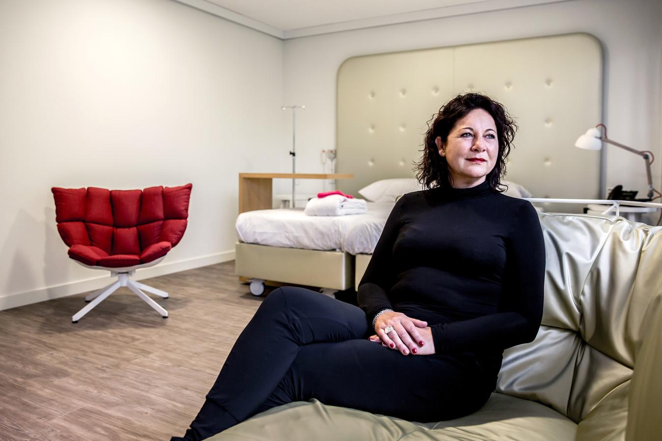 Ursula van Eijk werd behandeld voor borstkanker in het Alexander Monro Ziekenhuis.