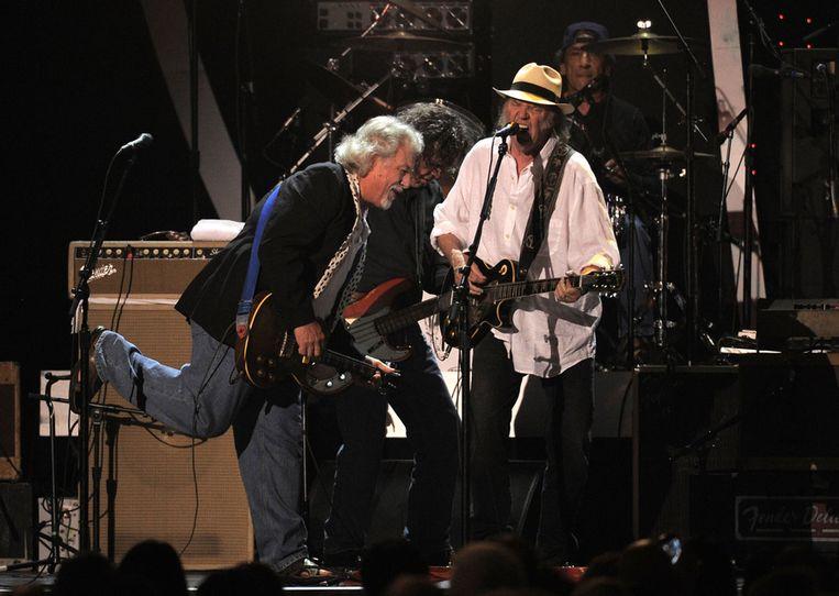 Neil Young met Crazy Horse. Beeld ap