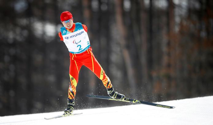 De Chinese biatleet Chenyang Wang.