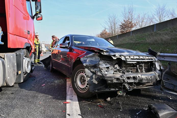 Gewonde bij ongeval A58 bij Ulvenhout