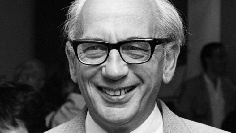 Karel van het Reve (hier in 1985) was onder andere hoogleraar Slavische letterkunde aan de Universiteit van Leiden. Beeld Materialscientist / CC BY-SA 3.0 NL