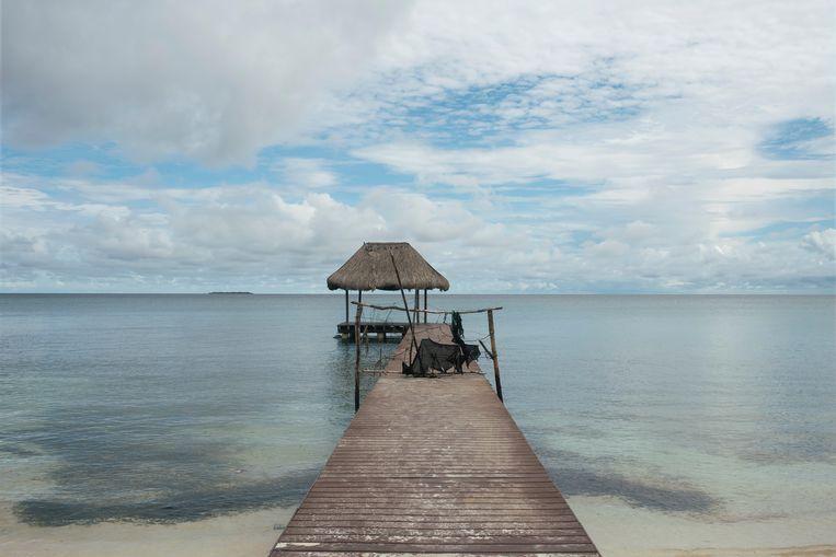 Het eiland Isla Grande voor de kust van Colombia, waar de Lazy Duck voor anker lag. Beeld Imageselect